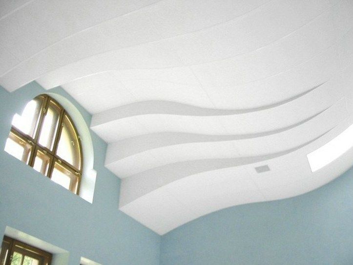 Sound absorbing glass wool ceiling tiles Ecophon Focus™ Flexiform - Saint-Gobain ECOPHON