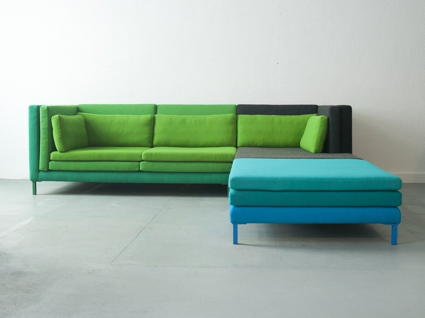 Modular fabric sofa LAYER - Branca-Lisboa