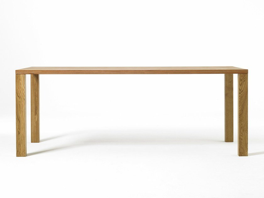 Rectangular wooden dining table PURE | Wooden table by sixay furniture