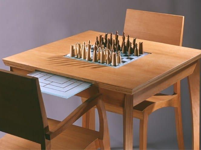 tavolo da scacchi quadrato in legno grasshopper tavolo. Black Bedroom Furniture Sets. Home Design Ideas
