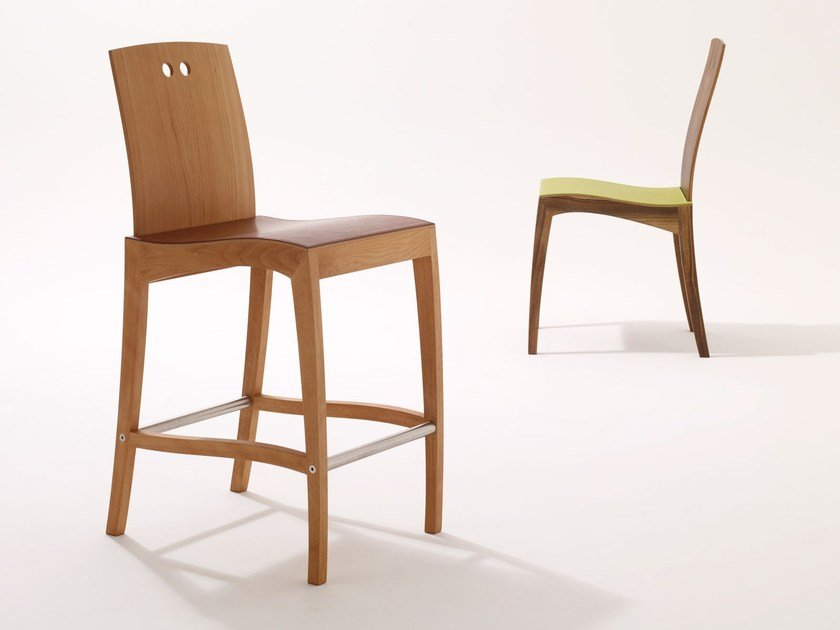 Wooden counter stool RANK | Counter stool - sixay furniture