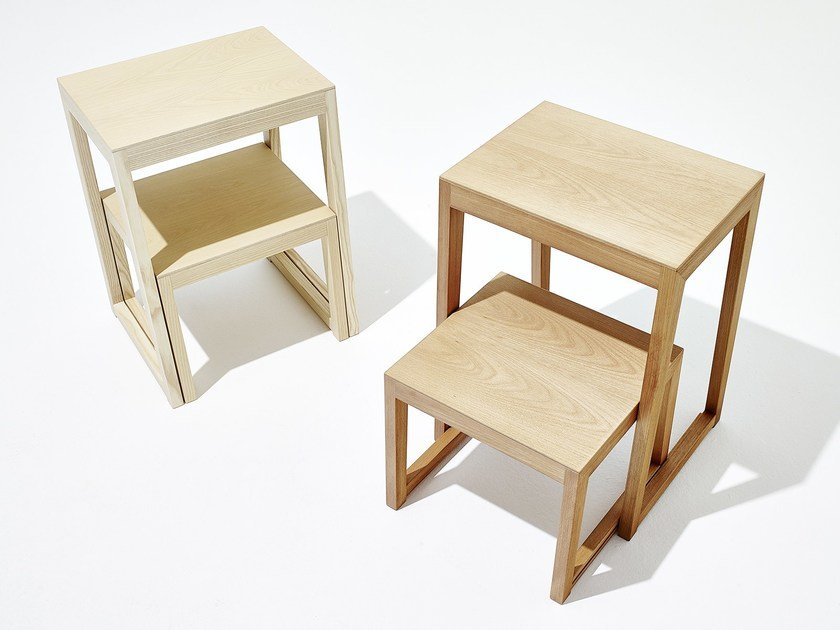 Wooden stool / step stools THEO STEP | Wooden step stools - sixay furniture