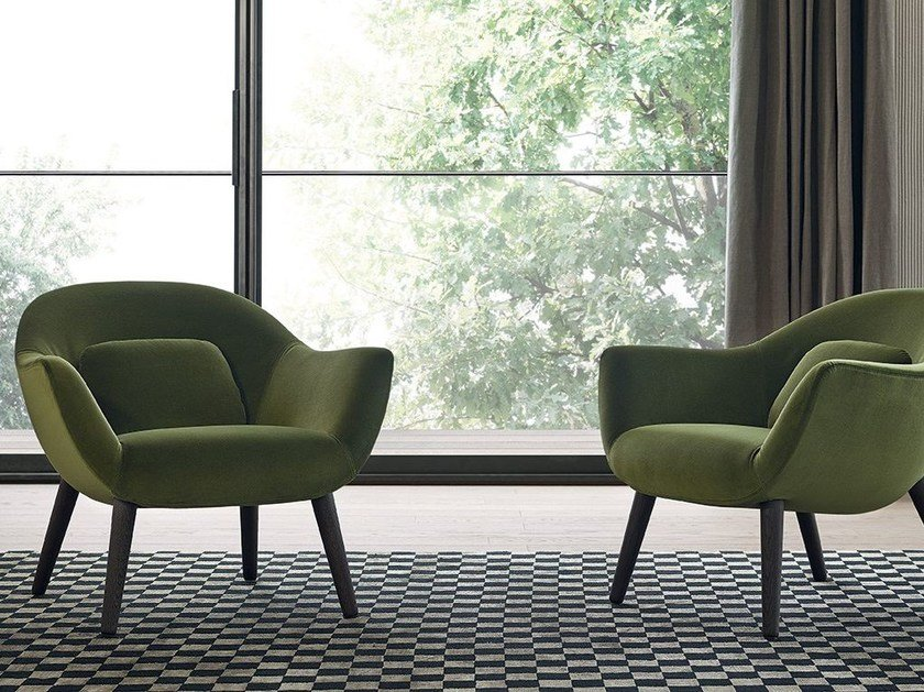 Upholstered fabric armchair MAD CHAIR | Armchair by poliform