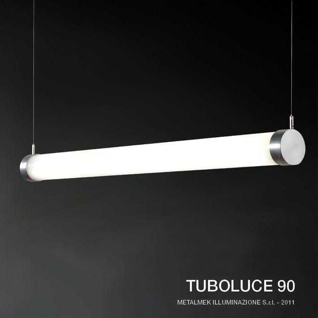 Polycarbonate pendant lamp TUBOLUCE 90 - METALMEK ILLUMINAZIONE