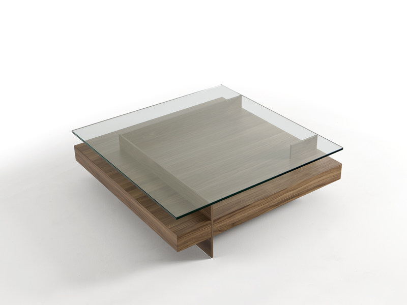Low coffee table with integrated magazine rack KETEL - Kendo Mobiliario