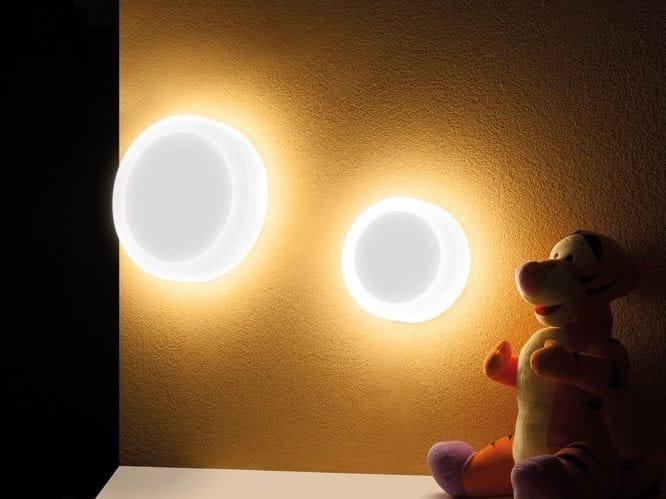 PMMA wall light CUBO TONDA 300 - Lombardo