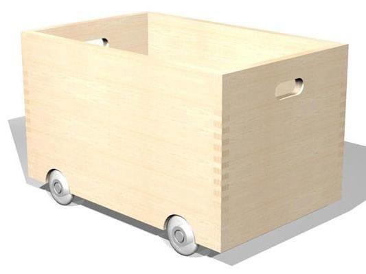 Multi-layer wood toy storage box SIXKID | Toy storage box - sixay furniture