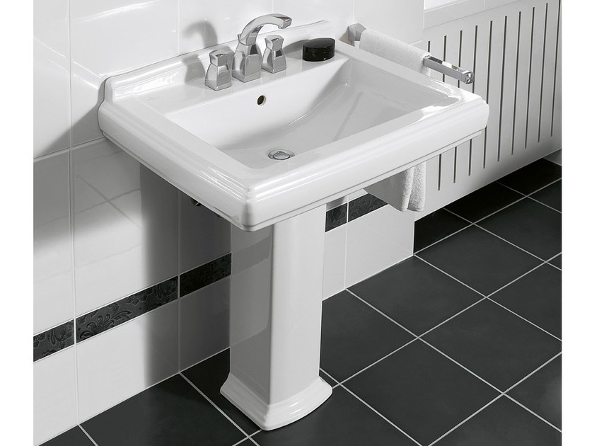 Pedestal ceramic washbasin HOMMAGE | Washbasin by Villeroy & Boch