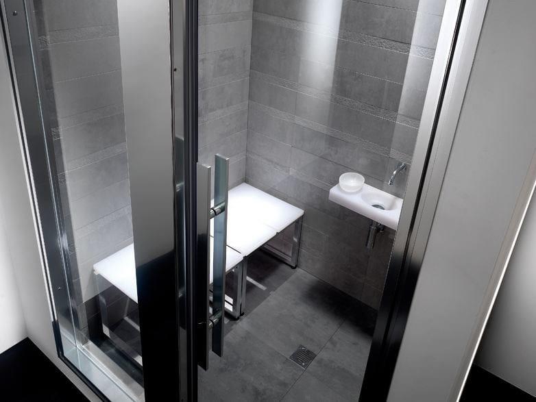 Porta con colonna per hammam integrata omniasteam touch - Colonna doccia bagno turco ...