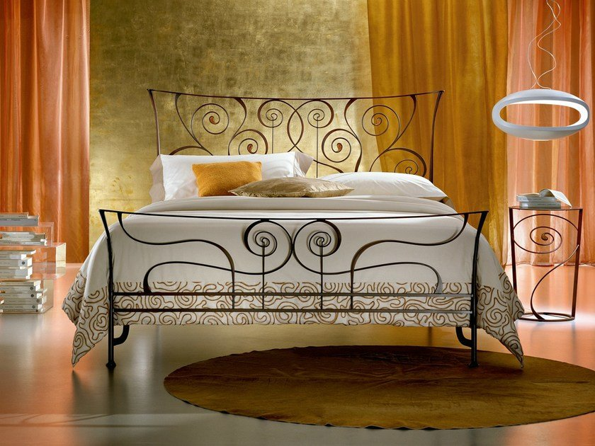 Wrought iron double bed BRIGITTE | Wrought iron bed - CIACCI