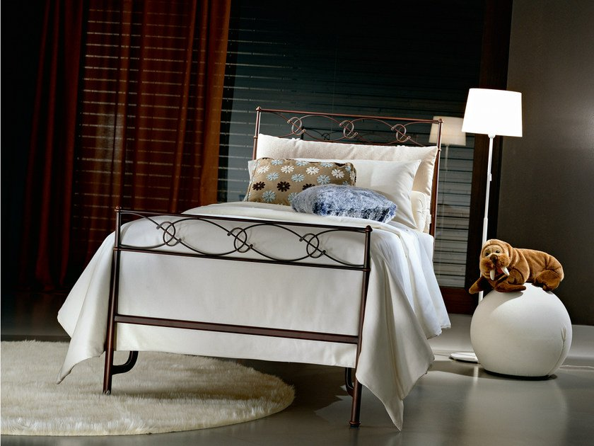 Wrought iron single bed SPRING | Single bed by CIACCI