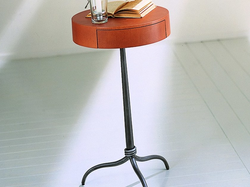 Round bedside table with drawers ANDRE' - CIACCI