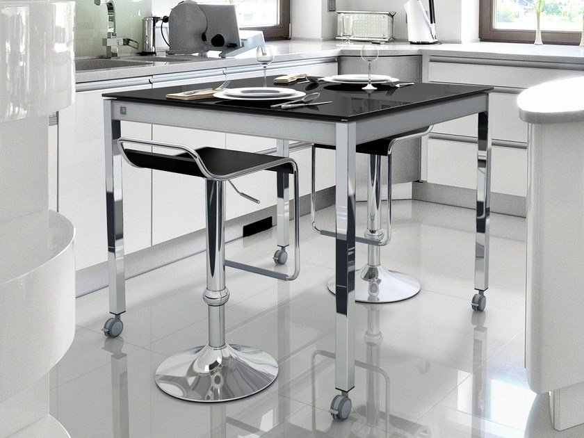 High table with casters MULTIPLA | High table - CANCIO