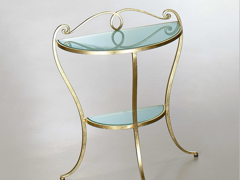 Wrought iron bedside table ORCHIDEA | Bedside table - CIACCI