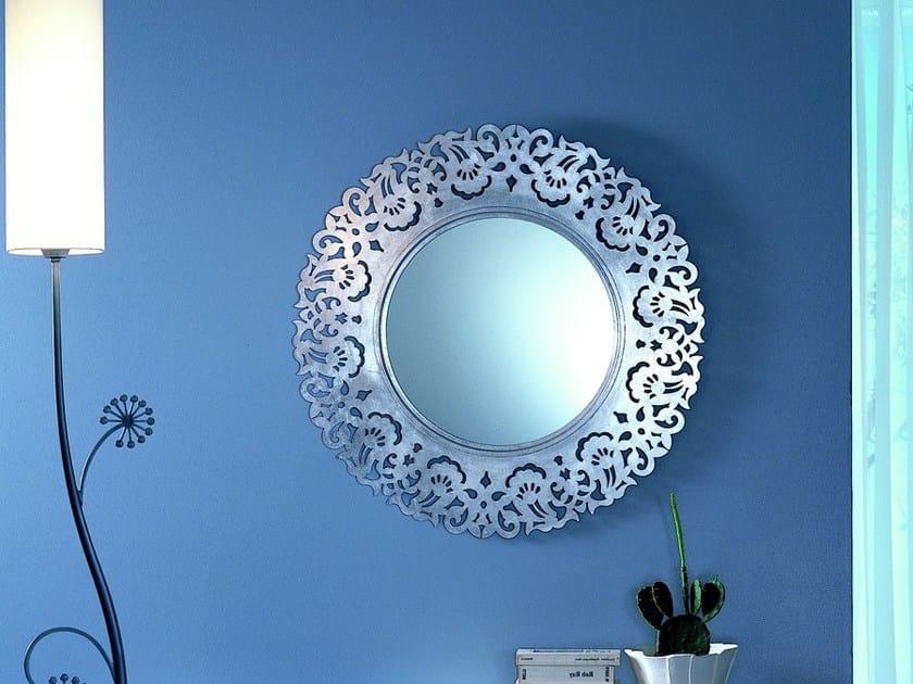Freestanding round framed mirror ARIA | Round mirror by CIACCI