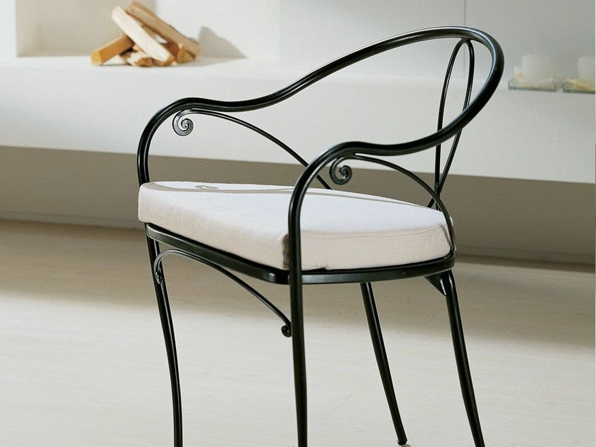Wrought iron chair with armrests PRETTY - CIACCI