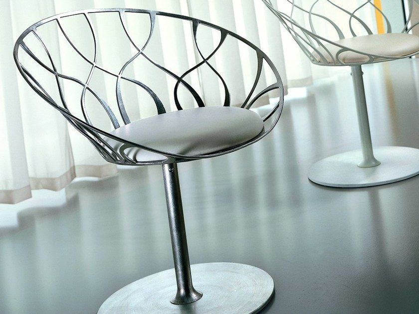 Wrought iron easy chair ROSA by CIACCI