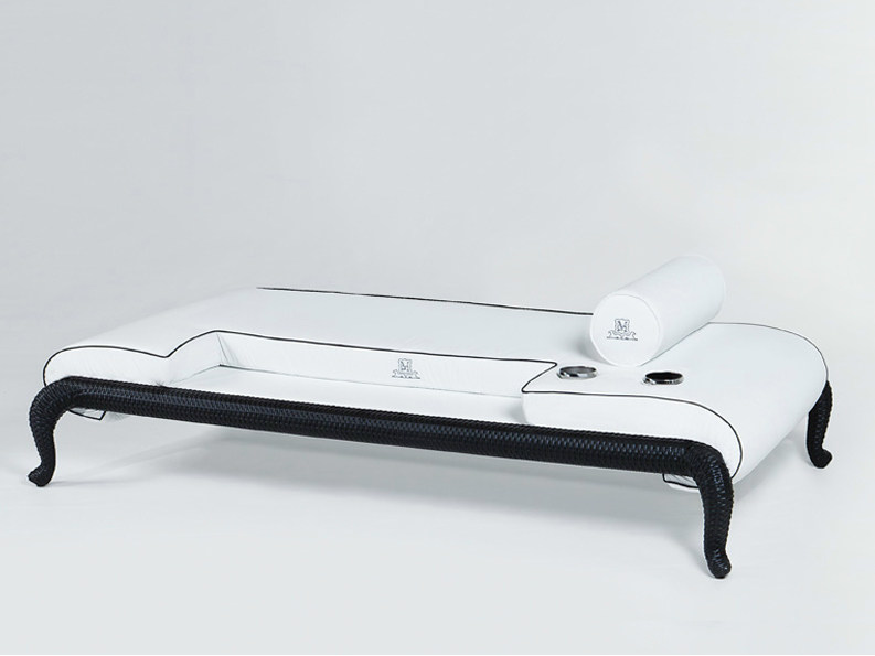 Upholstered fabric garden daybed CANOPO | Garden daybed - Samuele Mazza Outdoor Collection by DFN