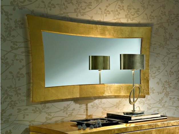 Wall-mounted framed rectangular mirror LYRA | Wall-mounted mirror by CIACCI