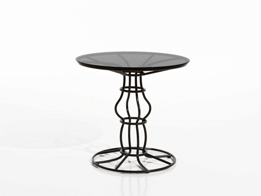 Round iron garden side table SIRIO | Round garden side table - Samuele Mazza Outdoor Collection by DFN