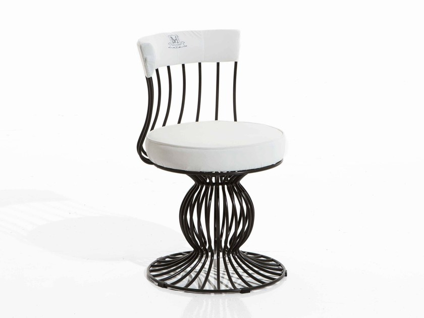 Iron garden chair SIRIO | Garden chair - Samuele Mazza Outdoor Collection by DFN