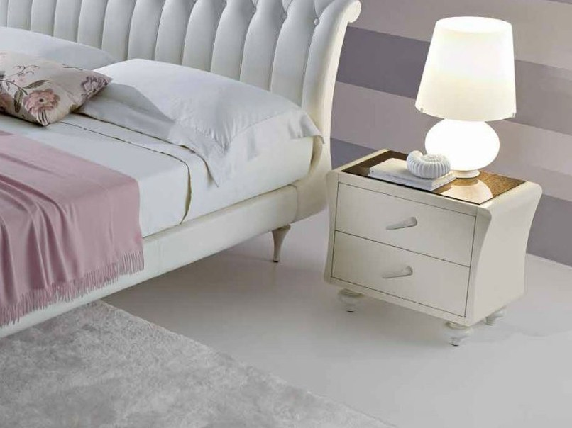 Rectangular bedside table with drawers VINTAGE | Bedside table with drawers - CIACCI