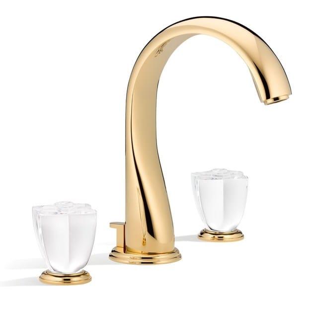 3 hole washbasin tap PÉTALE DE CRISTAL | Washbasin tap - INTERCONTACT