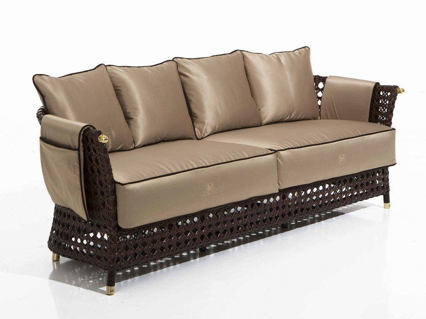 Fabric garden sofa RIGEL | 3 seater sofa - Samuele Mazza Outdoor Collection by DFN