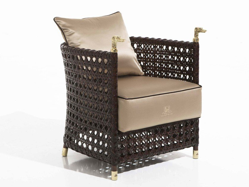 Upholstered fabric garden armchair SHAULA | Garden armchair - Samuele Mazza Outdoor Collection by DFN