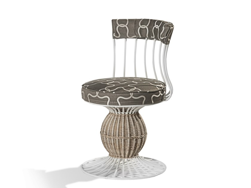 Iron garden chair SAIPH | Garden chair - Samuele Mazza Outdoor Collection by DFN