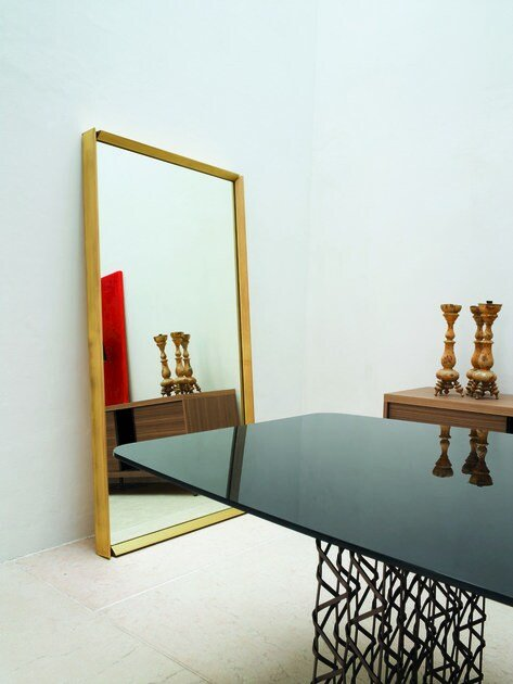 Framed freestanding rectangular mirror SQUARE | Rectangular mirror - CIACCI