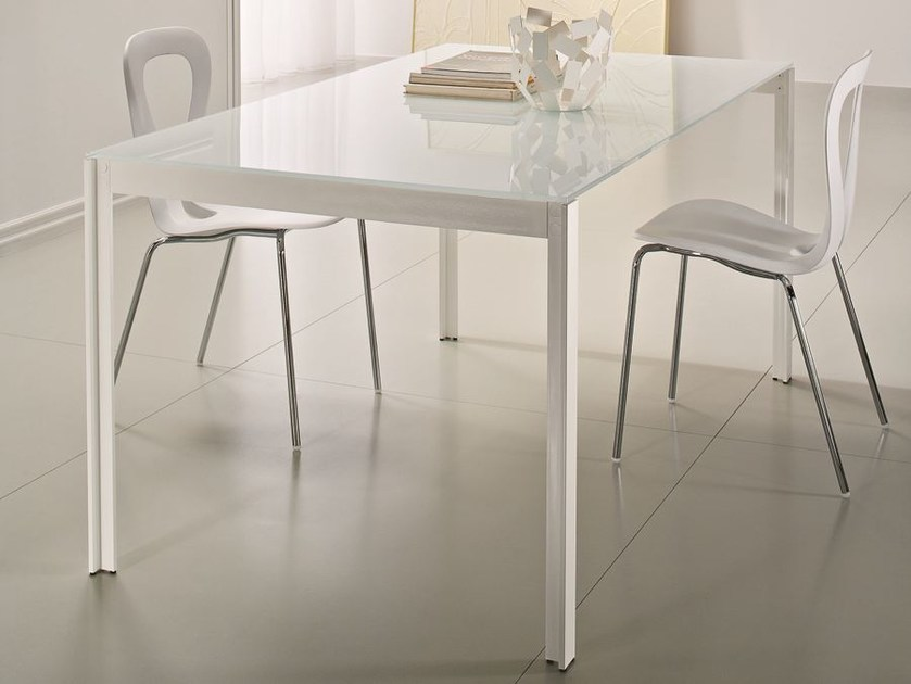 Rectangular crystal table EDO | Rectangular table by CIACCI