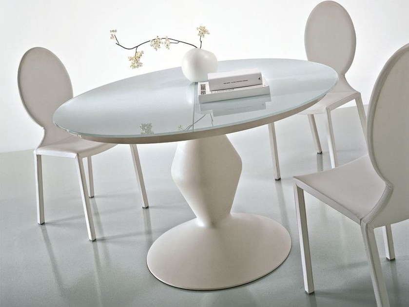 Round crystal table MICHELANGELO | Round table by CIACCI