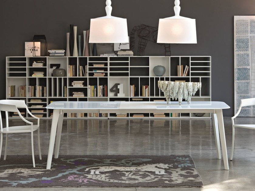 Extending rectangular crystal table OSLO | Extending table - CIACCI
