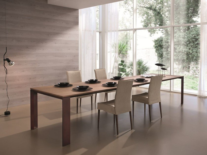 Extending rectangular table ZEUS | Extending table by CIACCI
