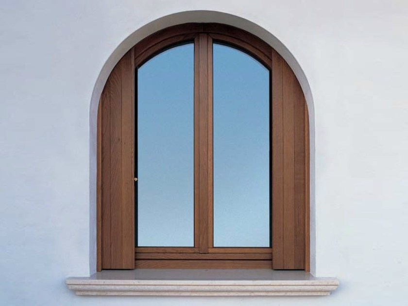 Finestra a battente con doppio vetro in rovere euro 68 finestra a battente carminati serramenti - Finestre a doppio vetro ...