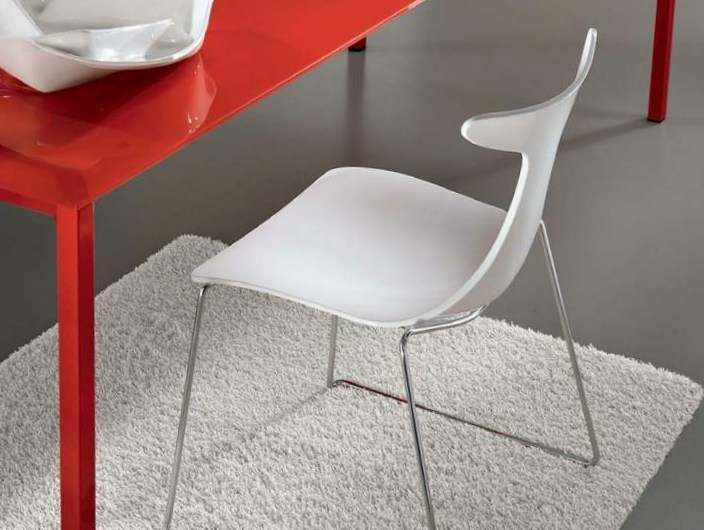Sled base stackable chair DELFY LUX - CIACCI