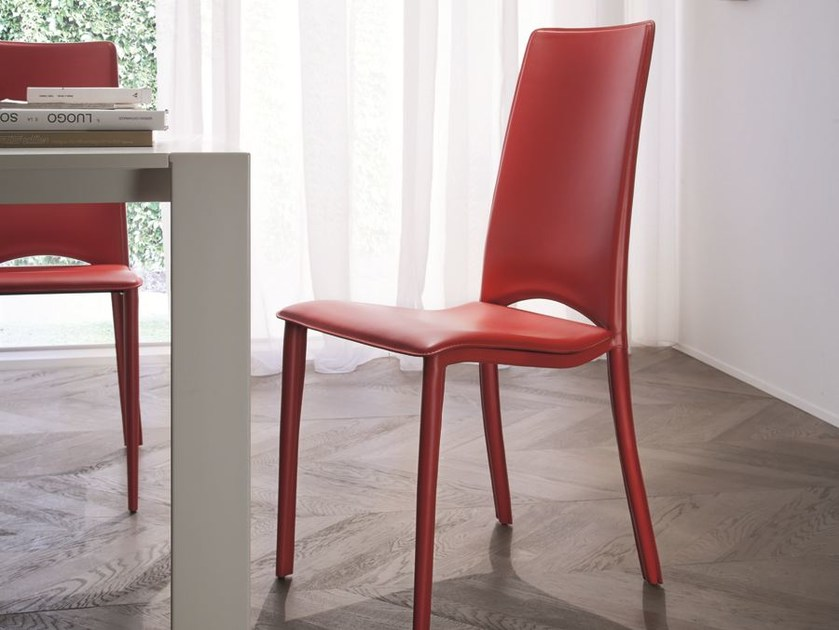 High-back chair VELA by CIACCI