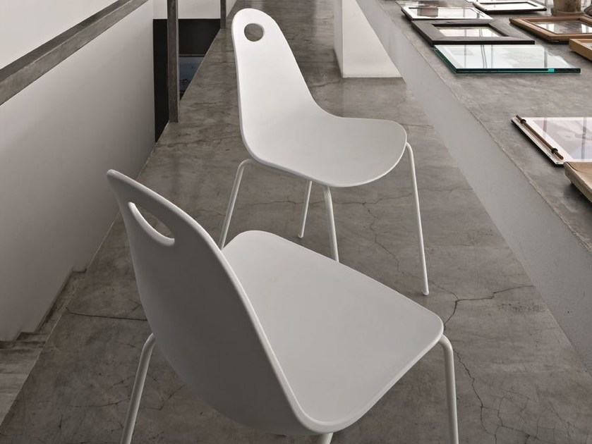 Stackable polypropylene chair PATATINA - CIACCI
