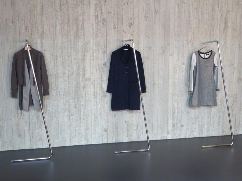 Chrome plated steel coat stand SAM - MOX