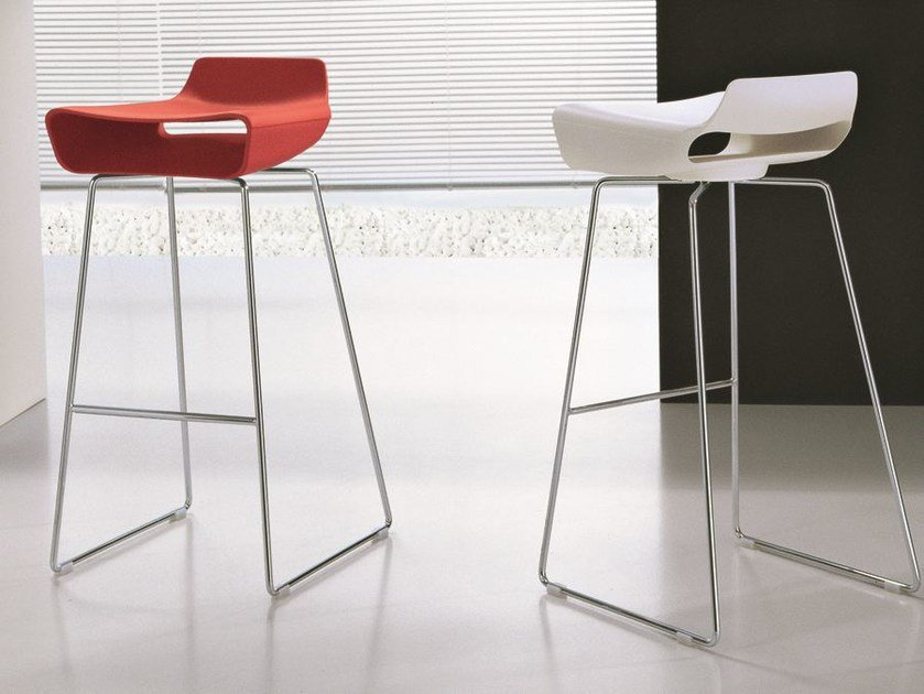 Sled base high stool MADE | Sled base stool by CIACCI