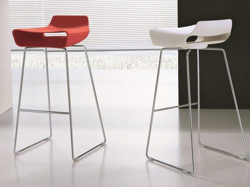 Sled base high stool MADE | Sled base stool - CIACCI