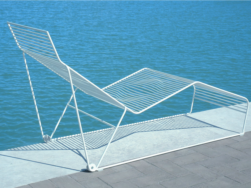 Powder coated steel garden daybed GRID | Garden daybed - CIACCI