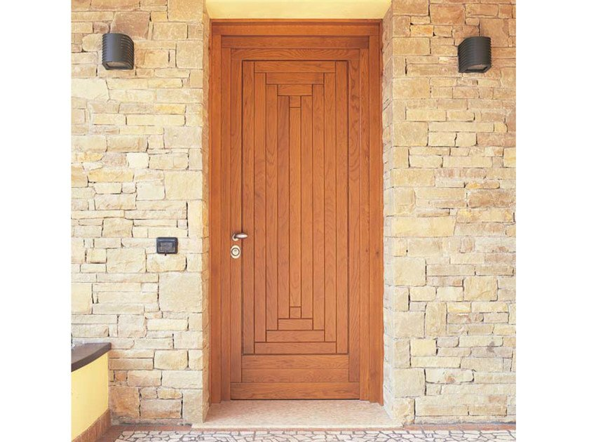 Exterior oak entry door Oak entry door - CARMINATI SERRAMENTI