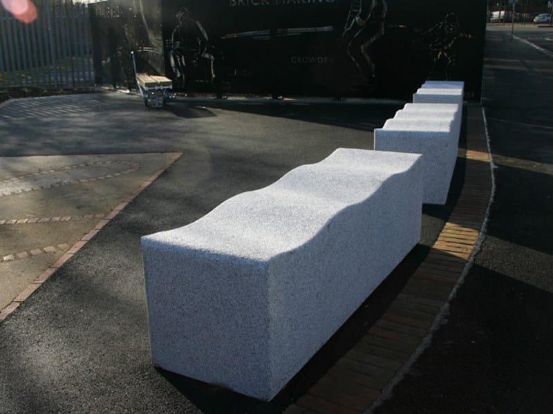 Backless granite Bench SERPENTINE GRANITE   Bench - Factory Street Furniture