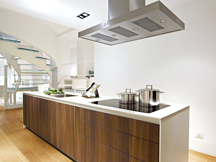 Fitted kitchen with island B3 | Wooden kitchen - Bulthaup
