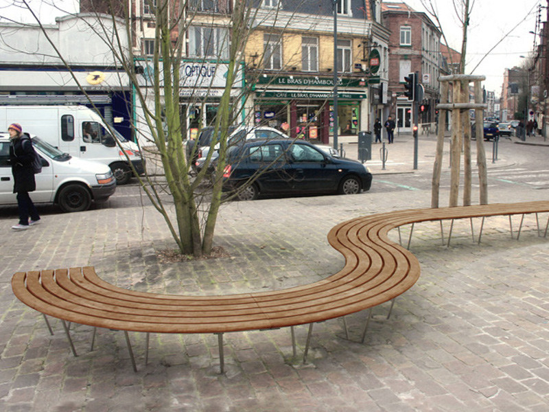 Wooden Bench SINU - Factory Street Furniture