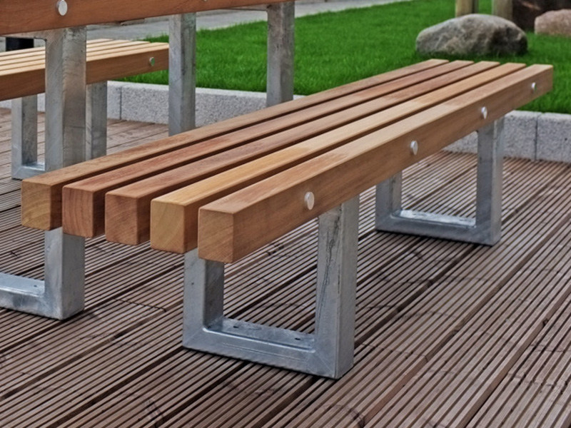 Steel and wood Bench TORD | Bench - Factory Street Furniture