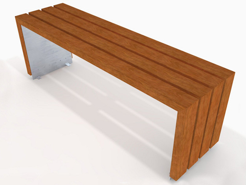 Wooden Table for public areas BLOC WOOD | Table for public areas - Factory Street Furniture