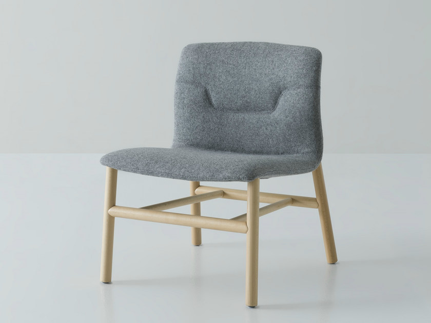 Upholstered fabric easy chair SLOT | Easy chair by GABER